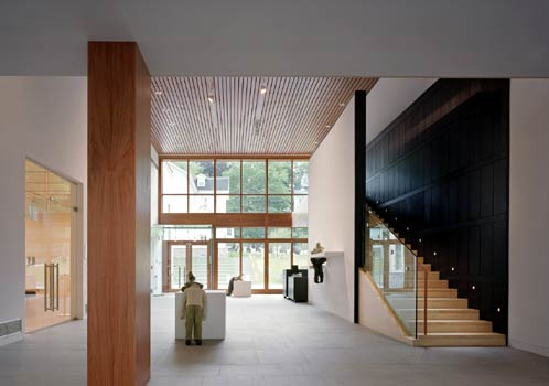 Aldrich interior event space with staircase