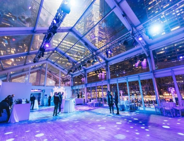 interior venue event space next to an ice rink