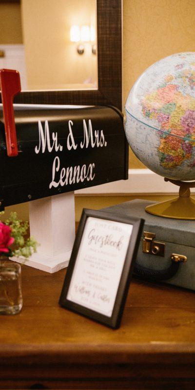 globe and mailbox centerpiece
