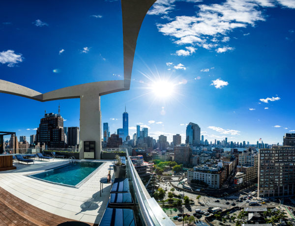 rooftop image of Jimmy with new york skyline