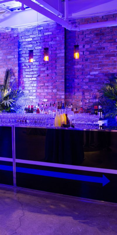 beautifully decorated interior event space