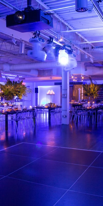 beautifully decorated interior event space with tables