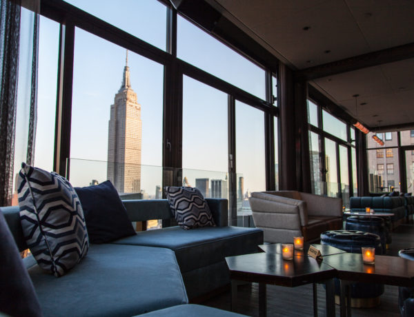 views of the empire state building from the skylark main lounge