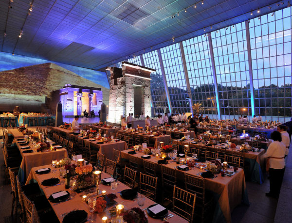 large venue with fine dining settings