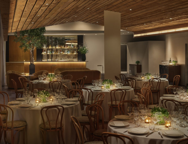 The Signature Room at Veranda set with tables